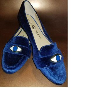 Katy Perry Blue Suede Loafer Sz 7
